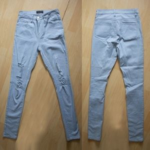 Women's NEW High Waist Blue Ripped Jeans, Size 3